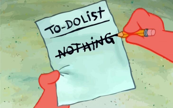 Шесть способов ничего не делать