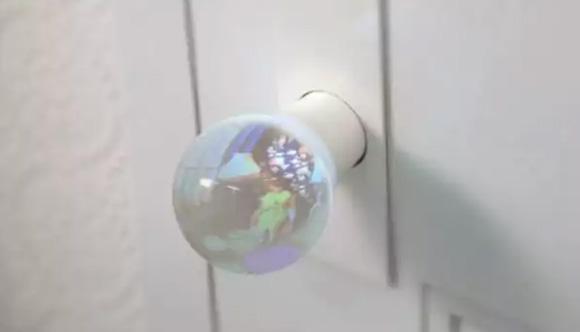 дверная ручка с обзором сквозь дверь