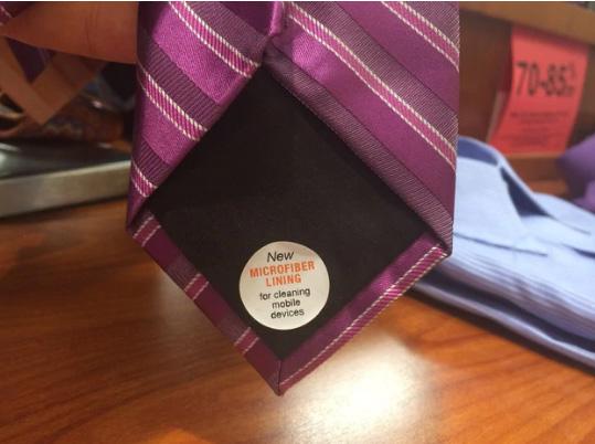 галстук которым можно чистить экран телефона