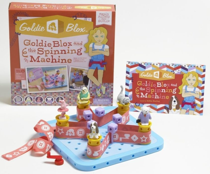 GoldieBlox — это серия книг с конструктором для детей