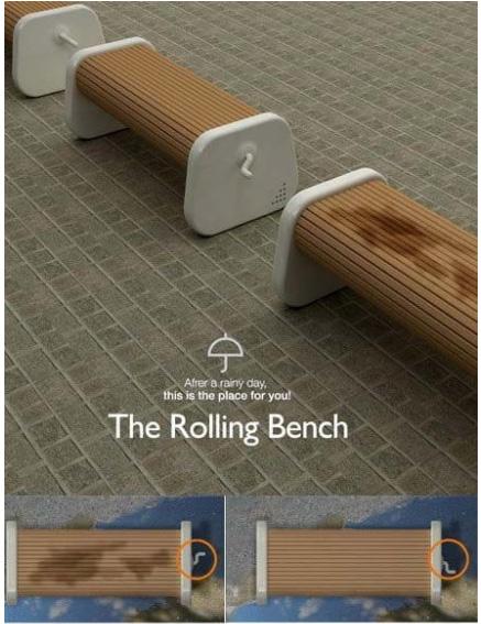 сухая скамейка на улице